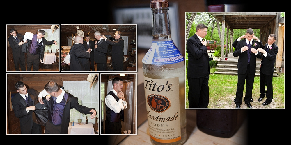 Titos Vodka in the grooms room