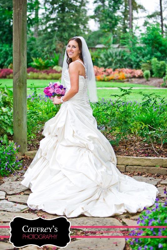 Elegant outdoor bridal portrait in Houston TX