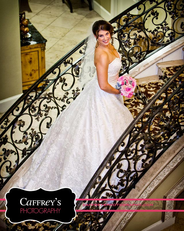 Stunning Bridal Portrait on staircase in Houston TX