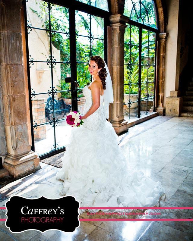 Bridal Portrait in front of huge window at Las Velas