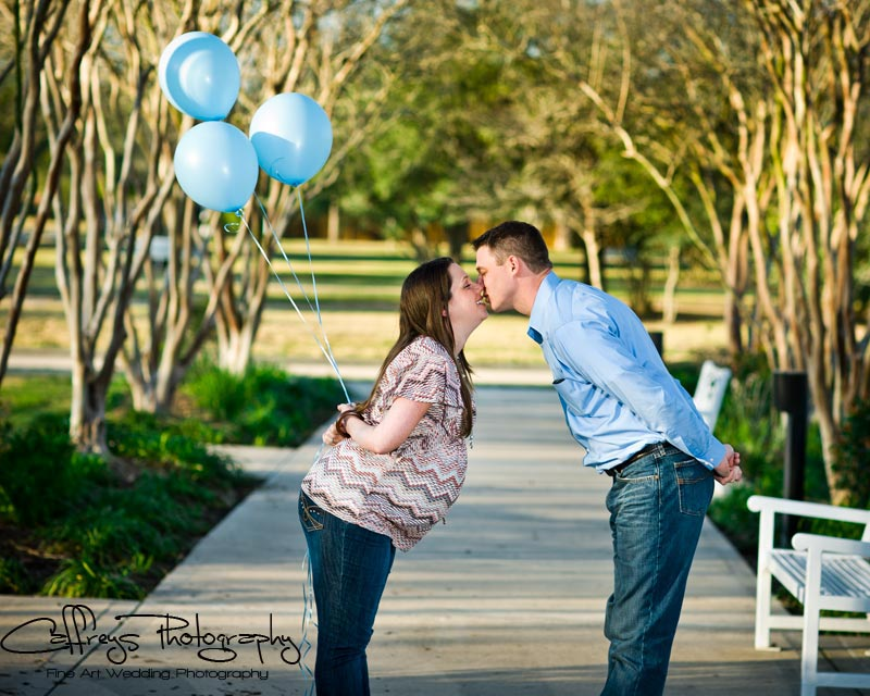 Katy Tx Maternity Photo balloons