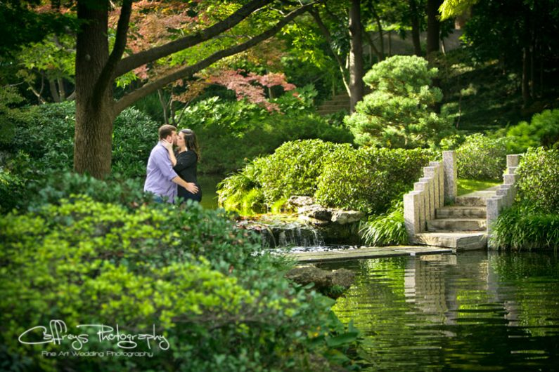 Fort Worth Japanese Gardens Engagment Portraits