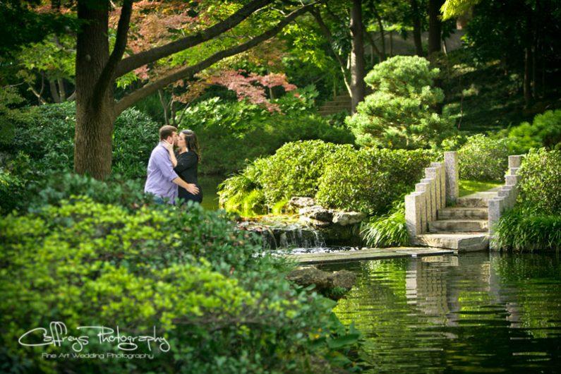 Stunning Fort Worth Japanese Gardens Engagement