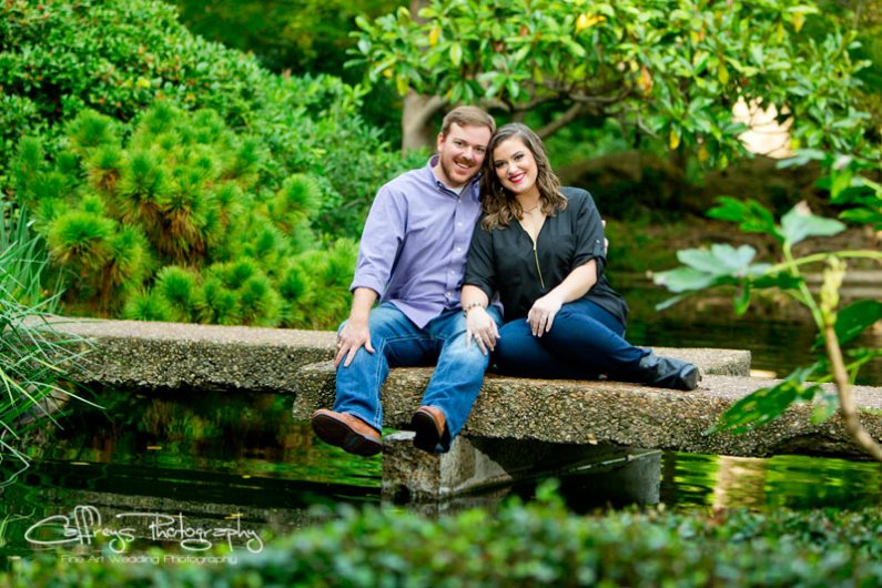 Ft Worth Japanese Gardens Engagement Portraits