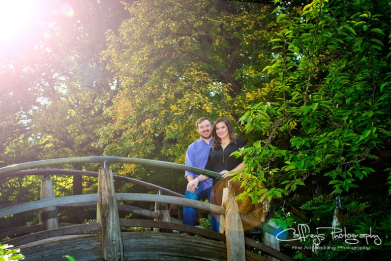 Japanese Gardens engagement portraits Fort Worth Tx