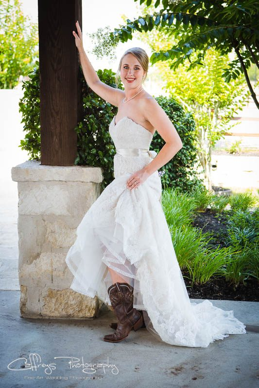 Houston wedding photographer The Springs Events Bridals Katy Tx Bridal Boots